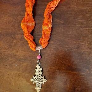 Accessories - Authentic Ethiopian orange scarf